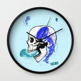 Skull and jellyfish Wall Clock