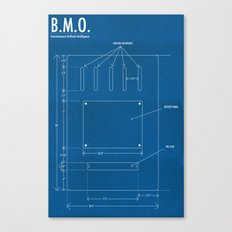 B.M.O. Entertainment Artificial Intelligence (Back) Canvas Print