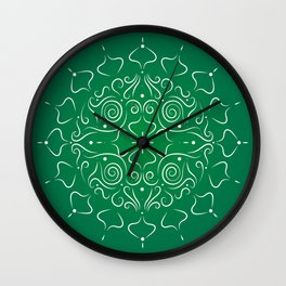 Ornamental Flower Wall Clock