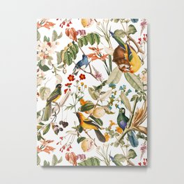 Floral and Birds XXXII Metal Print