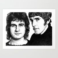 Cook and Moore Art Print