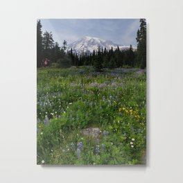 Mt. Rainier Metal Print