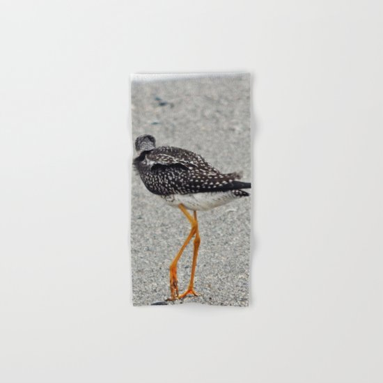 Greater Yellowlegs  Walks Away Hand & Bath Towel