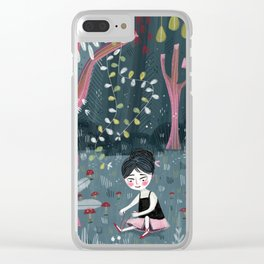 Midnight Ballet Clear iPhone Case