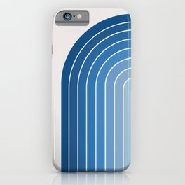 Gradient Arch - Blue Tones iPhone Case
