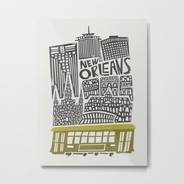 New Orleans City Cityscape Metal Print
