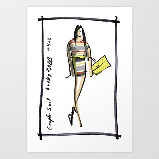 Graphic Suit -- Lucky FABB Art Print