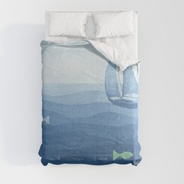 Coloured fish say hooray Comforters
