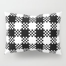 Black and white gingham pattern Pillow Sham