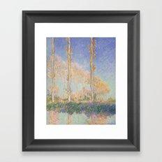 Claude Monet - Poplars, 1891 Framed Art Print