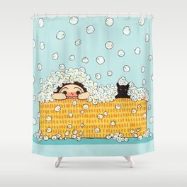 Bubble Time Shower Curtain