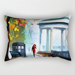 Tardis Stay Watching The Girl Rectangular Pillow