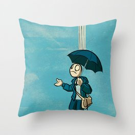 The Li'l Depressed Boy:  Lonely Heart Blues Throw Pillow