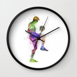 man soccer football player Wall Clock