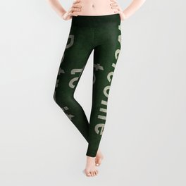 Welcome to Detroit highway road side sign Leggings