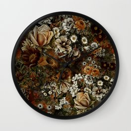 Night Garden Gold Wall Clock