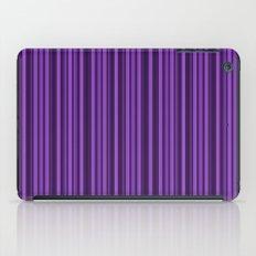 Purple Double Stripes Pattern iPad Case