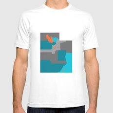 Utah State Map Print White MEDIUM Mens Fitted Tee