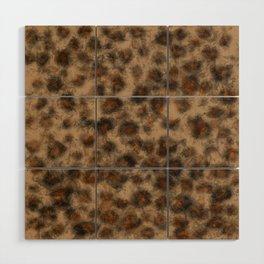 Fuzzy Leopard Wood Wall Art