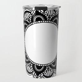 Mandala: black and white Travel Mug