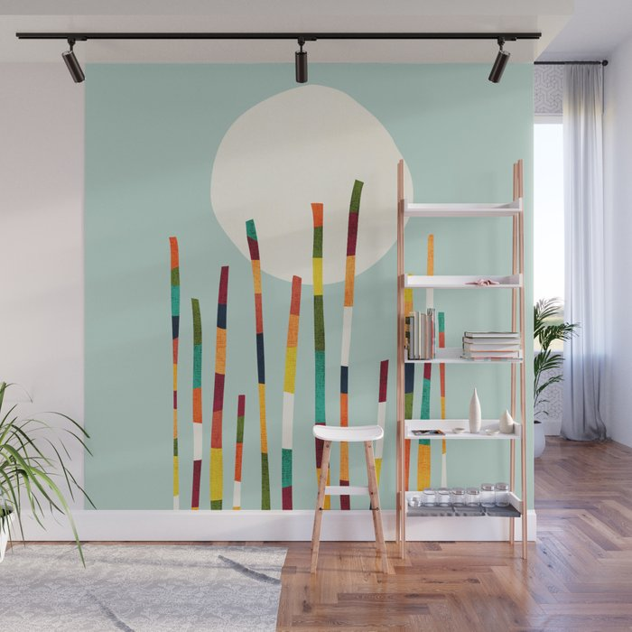 Bamboo Forest Wall Mural by budikwan Society6