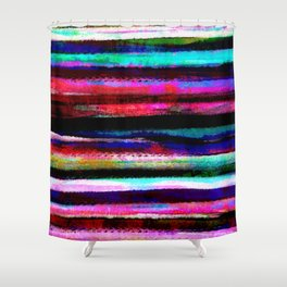 bohemian colorful pattern Shower Curtain