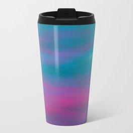 Pink Aqua Abstract Travel Mug
