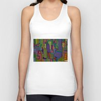 cityscape Tank Tops featuring Cityscape night by Glen Gould