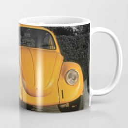 Love Bug, Bright Yellow Beetle bathed in evening sunlight Coffee Mug