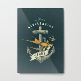 Anchor | Petrol Grey Metal Print