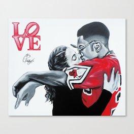 Black Love- Dwayne & Whitley Canvas Print
