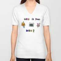 hero V-neck T-shirts featuring hero by Katharina Nachher