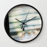 spider Wall Clocks featuring SPIDER by sincerelykarissa