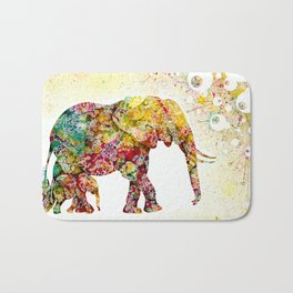"""""""Forever Young"""" Elephant Mother & Baby Bath Mat"""