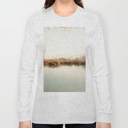 Autumn Lake Scene Long Sleeve T-shirt
