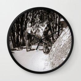 Mountain Bikers On A Path Wall Clock