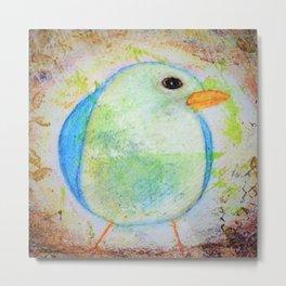 Sweet Little Bluebird Whimsical Rustic Chic Cottage decor Baby Bird Metal Print