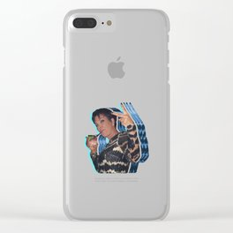 Peace Out Kris Jenner Clear iPhone Case