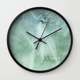 Silver green Wall Clock