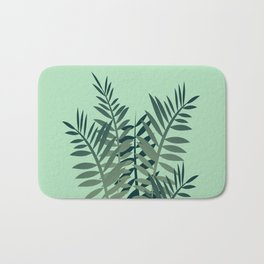 Fern Palm leaves big size green Bath Mat