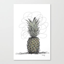 Tropical Pineapple Canvas Print