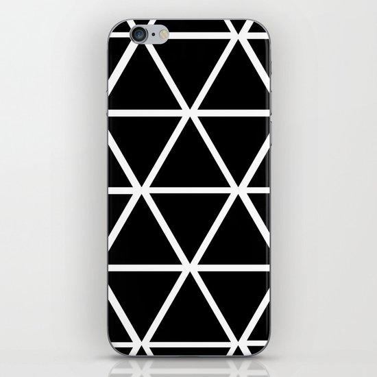 BLACK & WHITE TRIANGLES 2 iPhone & iPod Skin