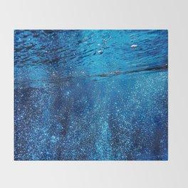 Below The Waves Throw Blanket