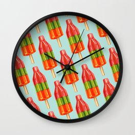 Popsicle Pattern - Spicy Bomb Wall Clock