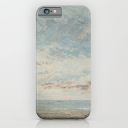 """Gustave Courbet """"Low Tide at Trouville"""" iPhone Case"""