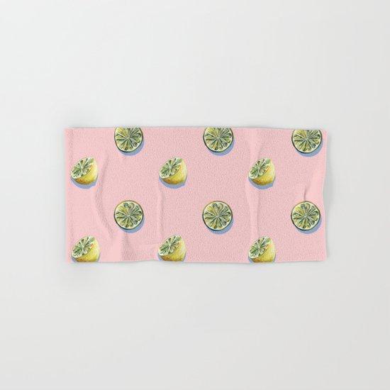 Lemon Pattern Hand & Bath Towel