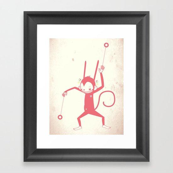 YO YO ♪ Framed Art Print