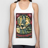 rocky horror picture show Tank Tops featuring Frank-N-Furter - Rocky Horror Picture Show by DanaRobinson