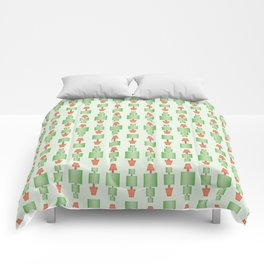 Topiary tree seamless wallpaper pattern with square shapes and dotted line. Comforters