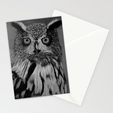 Owl B&W Stationery Cards